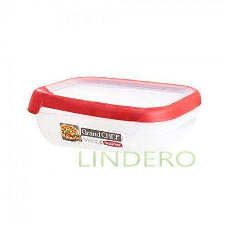 фото: Емкость для морозилки и СВЧ GRAND CHEF 0.5л прямоугольная (красная крышка) [00007-416-03]
