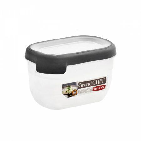 фото: Емкость для морозилки и СВЧ GRAND CHEF 0.75л прямоугольная (серая крышка) [00008-2]