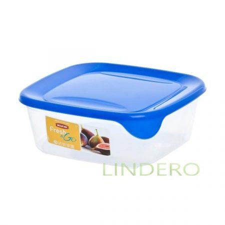 фото: Контейнер для СВЧ FRESH&GO 0.8л голубой квадратный [00559-139-01]