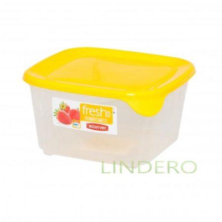 фото: Контейнер для СВЧ FRESH&GO 1.2л желтый квадратный [00560-007-01]