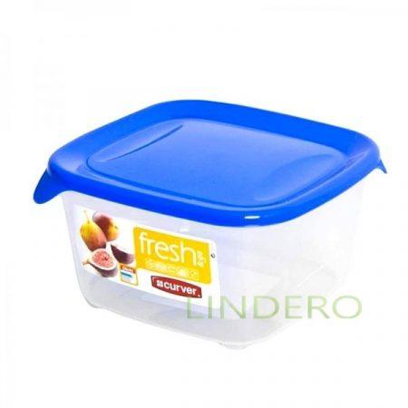 фото: Контейнер для СВЧ FRESH&GO 1.2л голубой квадратный [00560-139-01]