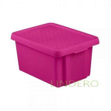 фото: Коробка с крышкой Essentials 16л фиолетовая [00753-437-00]