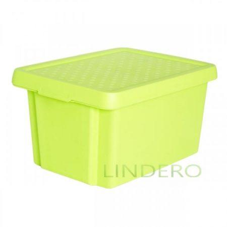 фото: Коробка с крышкой Essentials 16л зелёная [00753-598-00]