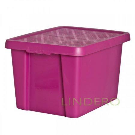фото: Коробка с крышкой Essentials 26л фиолетовая [00755-437-00]
