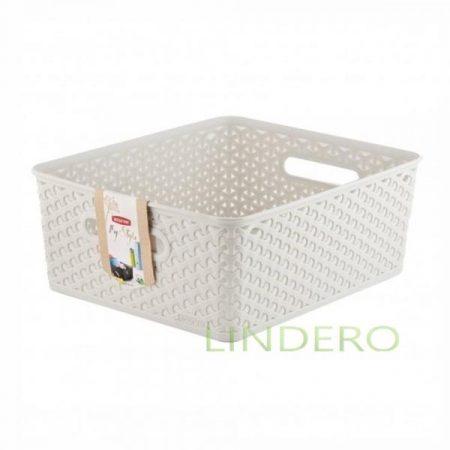 фото: Коробка для хранения MY STYLE M 13л кремовая [03611-885-00]