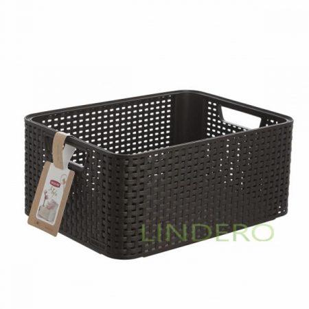 фото: Корзина RATTAN STYLE BOX Mтемно-коричневая [03615-210-00]