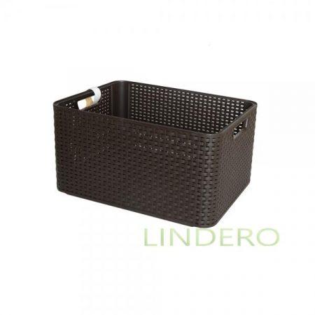 фото: Корзина RATTAN STYLE BOX Lтёмно-коричневая [03616-210-00]