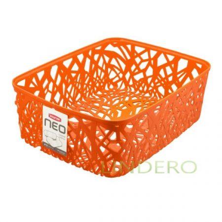 фото: Корзинка прямоугольная NEO COLORS L, оранжевая [04161-370-03]