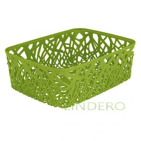 фото: Корзинка прямоугольная NEO COLORS L, зеленая [04161-598-03]