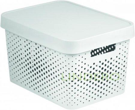 фото: Коробка INFINITY перфорированная с крышкой 17л белая [04742-n23-00]