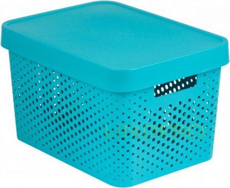 фото: Коробка INFINITY перфорированная с крышкой 17л лазурная [04742-x34-00]