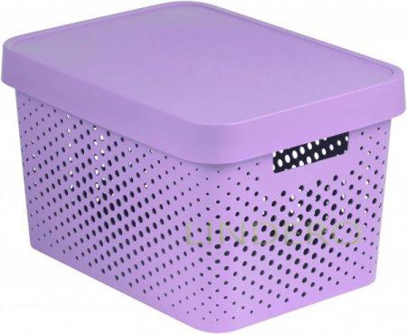 фото: Коробка INFINITY перфорированная с крышкой 17л розовая [04742-x51-00]