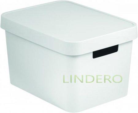 фото: Коробка INFINITY с крышкой 17л белая [04743-n23-01]
