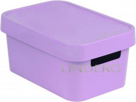 фото: Коробка INFINITY перфорированная с крышкой 4.5л серая [04746-x51-00]