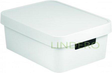 фото: Коробка INFINITY с крышкой 11л белая [04752-n23-00]