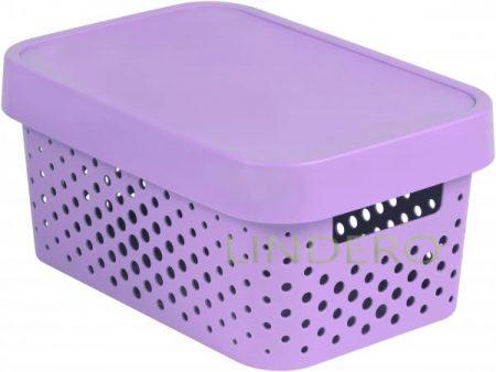 фото: Коробка INFINITY перфорированная с крышкой 4.5л розовая [04760-x51-00]