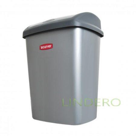 фото: Контейнер для мусора ДОМИНИК 25л серебристый [05322-877]