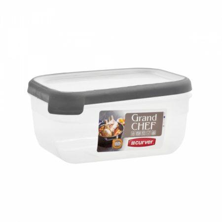 фото: Емкость для морозилки и СВЧ GRAND CHEF 1.8л прямоугольная (серая крышка) [07389-03]