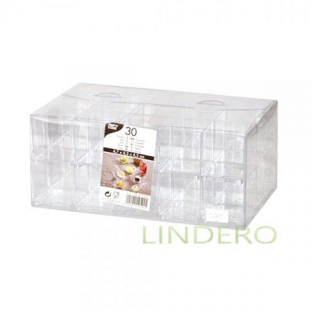 фото: Куб фуршетный прозрачный 4.2×4.2см 30шт [10524]