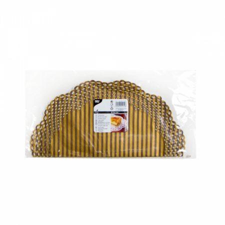 фото: Салфетки для торта круглые 4шт d=36см золотые [11012]