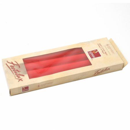 фото: Свечи АНТИК 25см 4шт красные (8ч) [161001013]