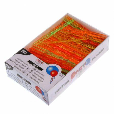 фото: Пики пластик разноцветные ВИЛОЧКА 11см 250шт (12658) [16693]