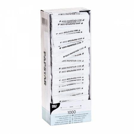 фото: Зубочистки пластиковые белые 1000шт в инд.упаковке [16718]