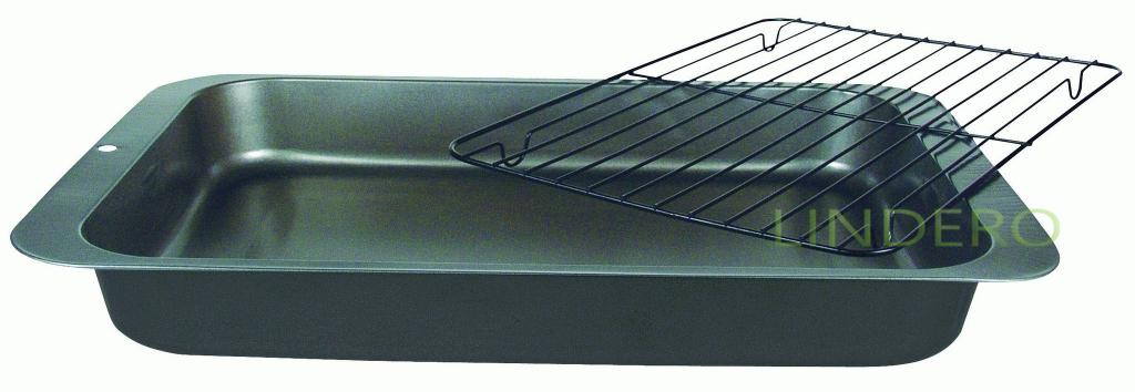 фото: Противень глубокий с решеткой-гриль 36х27х4,5 см Linea EASY [93-CS-EA-2-05]
