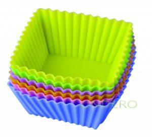 "фото: Набор форм д/выпечки ""Тарталетки квадратные"" 7х3,5 см. Silicone [93-SI-S-17.4]"