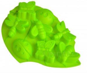 "фото: Ф-ма д/выпечки ""Лист""(зеленый)  8 ячеек Silicone 28х22х3 см [93-SI-FO-105]"