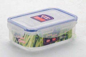 фото: Пластиковый контейнер для продуктов с зажимом  0.33 л [02-1]