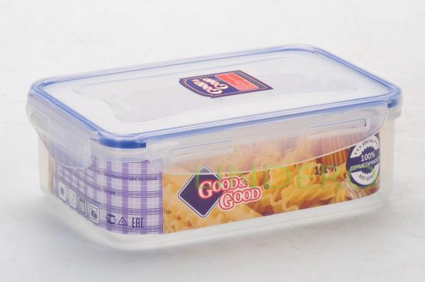 фото: Пластиковый контейнер для продуктов с зажимом  1.1 л [3-1]