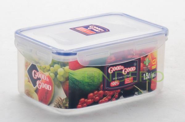 фото: Пластиковый контейнер для продуктов с зажимом  1.5 л [3-2]