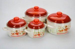 """фото: Набор посуды 6пр.(2,2л, 4л,5,3л) /152606/Экскл """"Винтаж"""" [2564-0]"""