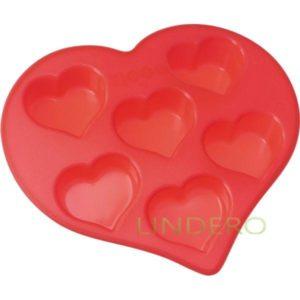 """фото: Форма Silicone для кексов """"Сердечки"""", 26,5х25,5х4 см [93-SI-FO-19]"""
