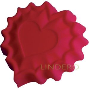 """фото: Форма для выпечки Silicone """"Валентинка"""", 25,5х24х3,5 см [93-SI-FO-40]"""