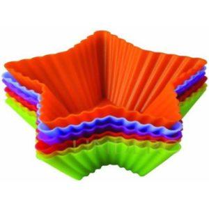 """фото: Набор форм для выпечки Silicone """"Тарталетки-звезды"""", 10х3,5 см [93-SI-S-17.1]"""