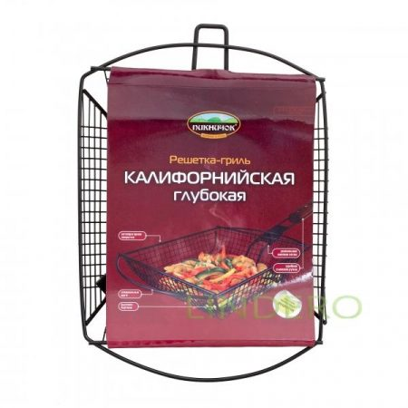 фото: Решетка для барбекю КАЛИФОРНИЙСКАЯ глубокая с антипригарным покрытием [401026]