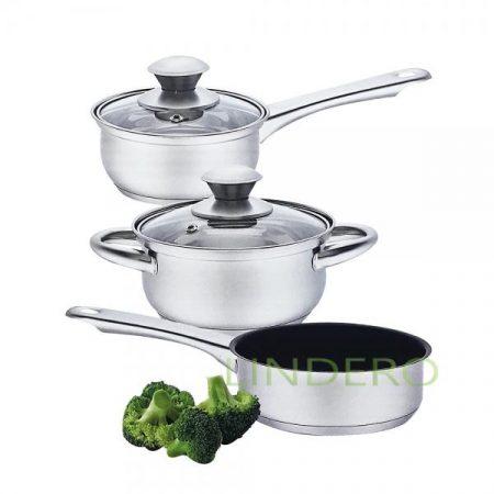 фото: Набор посуды из нержавеющей стали LILY 5 предметов [ass800]