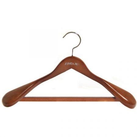 фото: Вешалка для верхней одежды с антискользящей перекладиной, 44 см [AHO511]