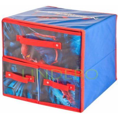 фото: Коробка для хранения Spider Man с ящиками, 30х25х30 см. [ASC325]