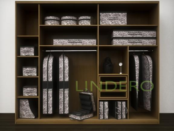 фото: Подвесной кофр (органайзер) открытый для обуви и бытовых мелочей 120х22х30см. (Ажур) [220/0]