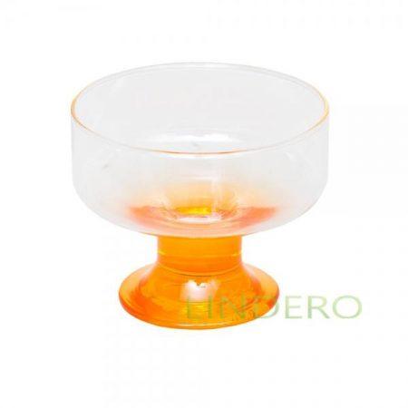 фото: Ваза для мороженого ЭНЖОЙ ОРАНЖ 100 мм (ножка оранжевая) [BP41016SLBD7]