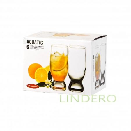 фото: Набор стаканов AQUATIC  коктейль 6шт 270мл [BP42978B]