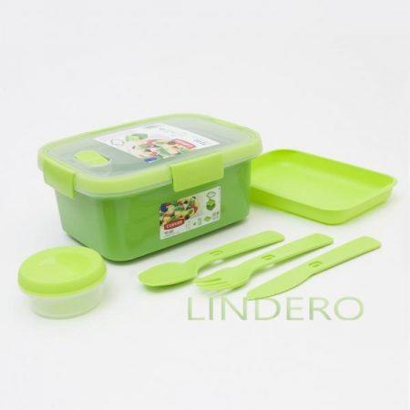 фото: Набор для ланча прямоугольный TO GO KIT 1.2л зеленый []