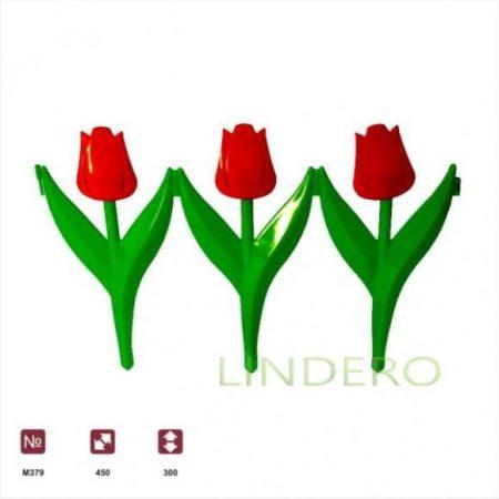 фото: Ограждение Цветы (450х300) 6шт. [М379]