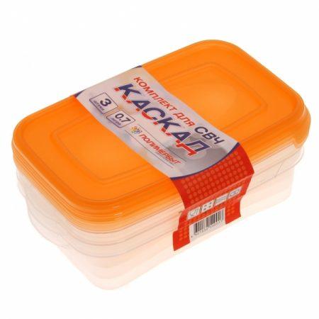 фото: Набор контейнеров КАСКАД для СВЧ 3шт 0.7л [C54001]
