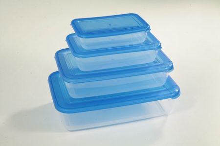 фото: Набор контейнеров для СВЧ 4шт 0.45+0.9+1.9+3.0л прямоугольные [C556]