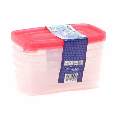фото: Набор контейнеров КАСКАД-2 для СВЧ 3шт 1.0л [C57001]