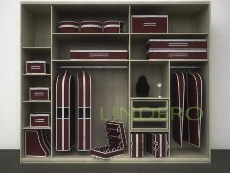 фото: Чехол объемный для одежды малый, 60х100х10см (Бордовый) [1617]